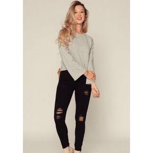 Judy Blue Distressed Black Skinny Jeans Size 13